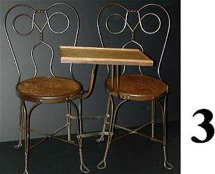 Double Seat Tete-a-Tete Ice Cream Chair