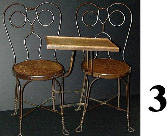 3: Double Seat Tete-a-Tete Ice Cream Chair