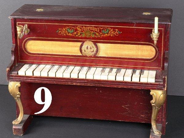 9: Schoenhut Upright Piano with Sconces