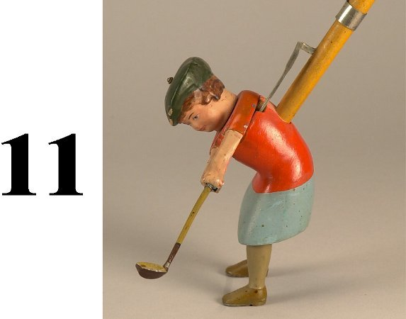 11: Schoenhut Lady Golfer - reduced size