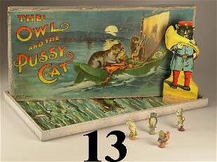 Lot: Owl & Pussy Game and Stand-up