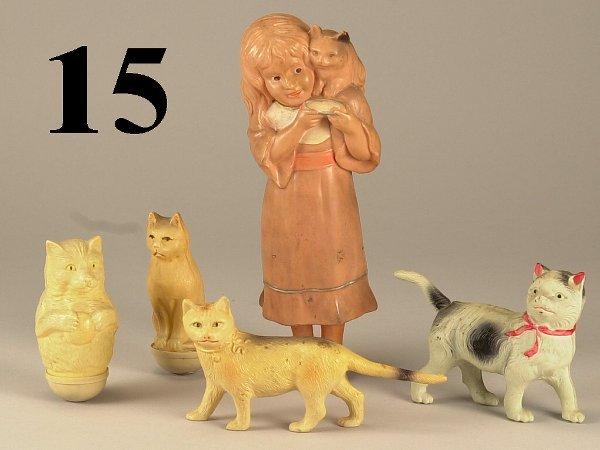 15: Lot: 5 Celluloid Figures