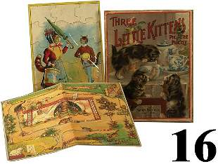 Lot: 2 Puzzles and Game board
