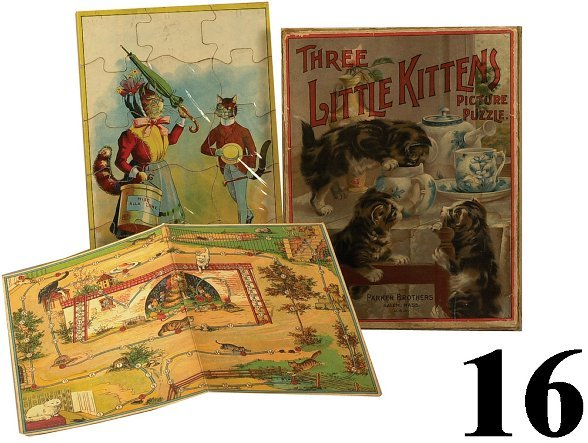 16: Lot: 2 Puzzles and Game board