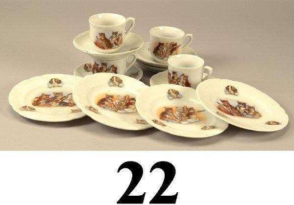 22: German China Tea Set