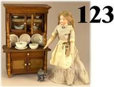 123: German Kitchen Display with Bisque Shoulder Head D