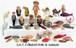 Celluloid Dolls & Animals
