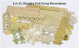 Dresden Foil Scrap Decorations