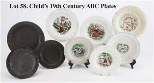 Child's 19th Century ABC Plates