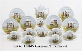 Child's German China Tea Set
