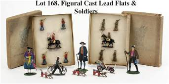 Figural Cast Lead Flats  Soldiers
