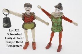 Schoenhut Lady & Gent Bisque Head Performers