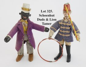 Schoenhut Dude & Lion Tamer