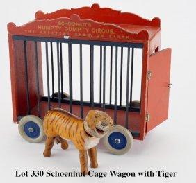 Schoenhut Cage Wagon with Tiger