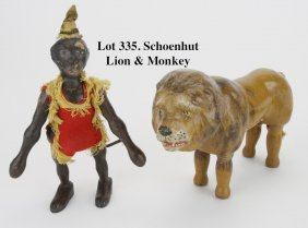Schoenhut Lion & Monkey