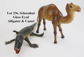 Schoenhut Glass Eyed Alligator & Camel