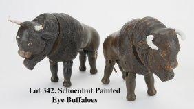 Schoenhut Painted Eye Buffaloes