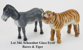 Schoenhut Glass Eyed Burro & Tiger