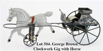 George Brown Clockwork Gig with Horse