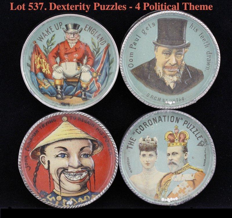 Dexterity Puzzles - 4 Political Theme