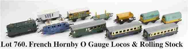 French Hornby O Gauge Locos  Rolling Stock