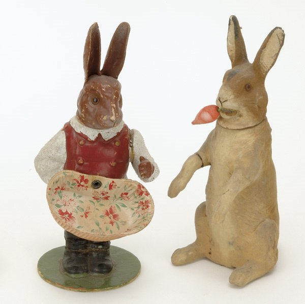 6: Lot: 2 German Rabbit Candy Containers