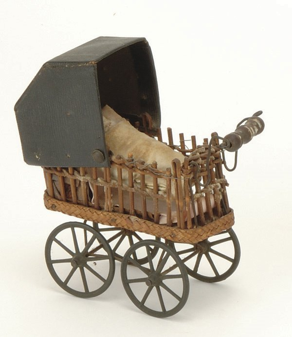 13: Miniature Wicker Carriage