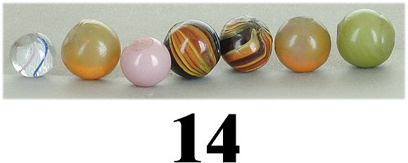 14: Lot: 7 Small Rare Marbles