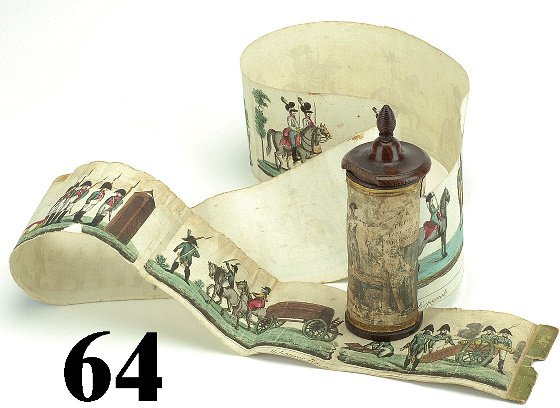 64: French Military Picture Scroll