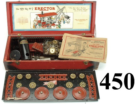"450: No. 7 Erector Set - ""The Set that Builds The Steam"