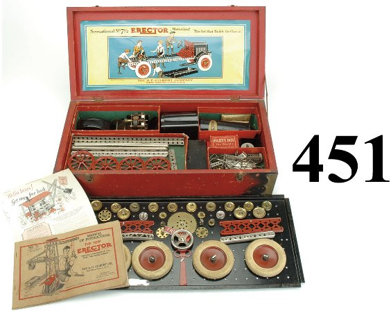 451: No. 7 1/2 Erector Set - The Set that Builds the Ch