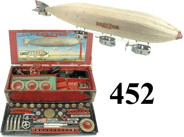 452: No. 8 Erector Set - The Set that Builds The Zeppel