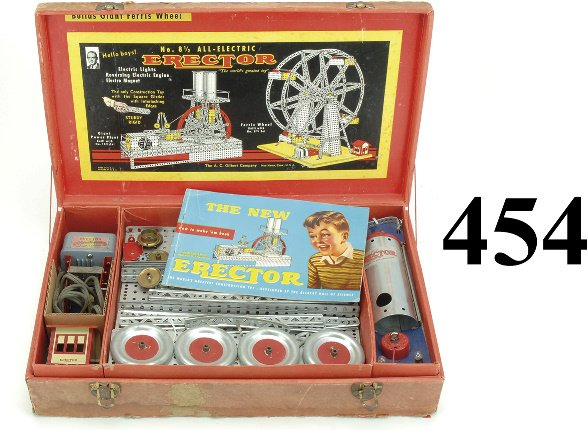 454: No. 8 1/2 Erector Set - All Electric Ferris Wheel