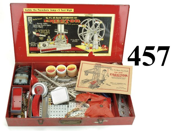 457: No. 9 1/2 Erector Set - All Electric Automotive se