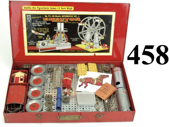 458: No. 9 1/2 Erector Set - All Electric Automotive Se