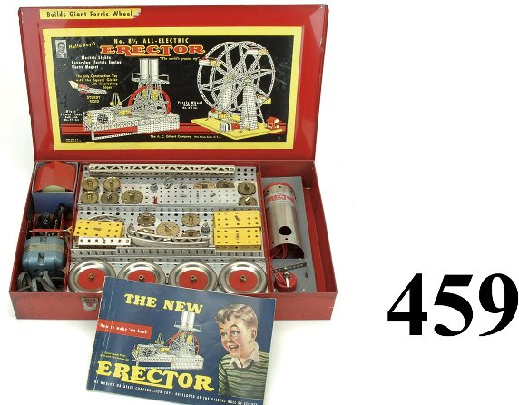 459: No. 8 1/2 Erector Set - All Electric - Ferris Whee