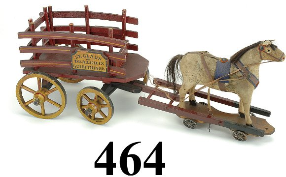 464: St. Claus Goods Wagon with Horse