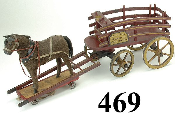 469: St. Claus Horse Drawn Goods Wagon