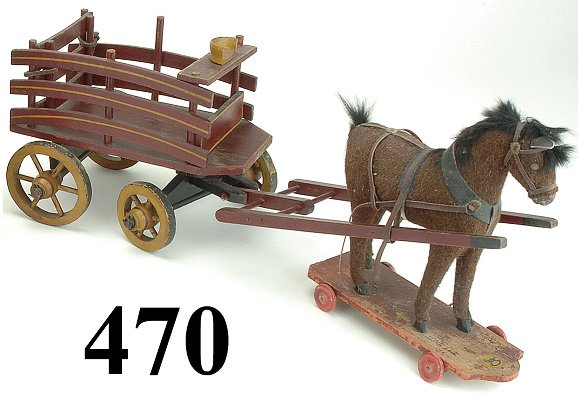470: Hay Wagon with Platform Horse