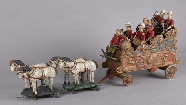 Schoenhut Humpty Dumpty circus parade band wagon