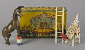 Schoenhut Humpty Dumpty circus set, in its orig