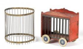 Schoenhut circus cage wagon, 10'' h., 9 3/4'' w.,