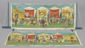 Schoenhut Humpty Dumpty circus sideshow banners