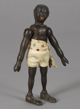 Schoenhut painted wood African native with a tw