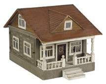 Schoenhut large size bungalow doll house with m