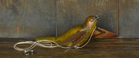 Lehmann tin lithograph clockwork flying bird, 7