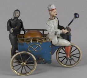Lehmann tin lithograph clockwork baker and chimn