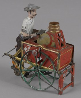 Charles Rossignol hand painted tin knife grinder