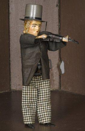 Ferdinand Martin hand painted tin clockwork viol