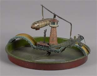 George Kellerman tin lithograph wind-up boat, ai